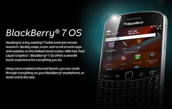 BlackBerry Bold Touch 9900/9930 ya son oficiales al igual que BlackBerry 7 OS
