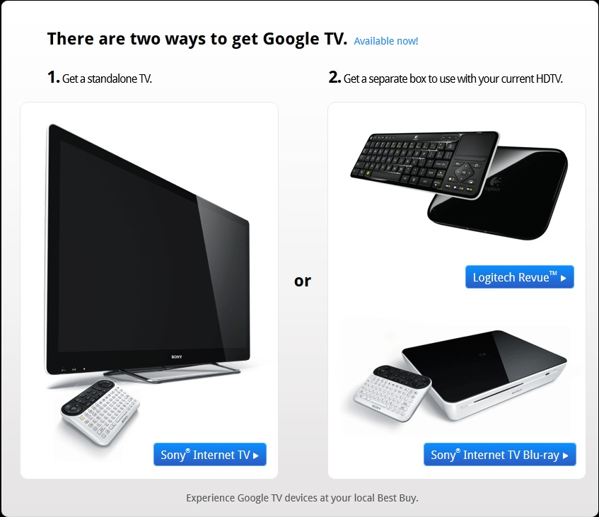 Google TV llegar a Europa en el 2012