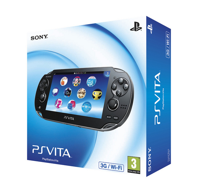 Caja del PS Vita y algunas aplicaciones pre-instaladas