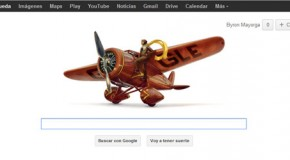 Amelia Earhart en el nuevo Google doodle